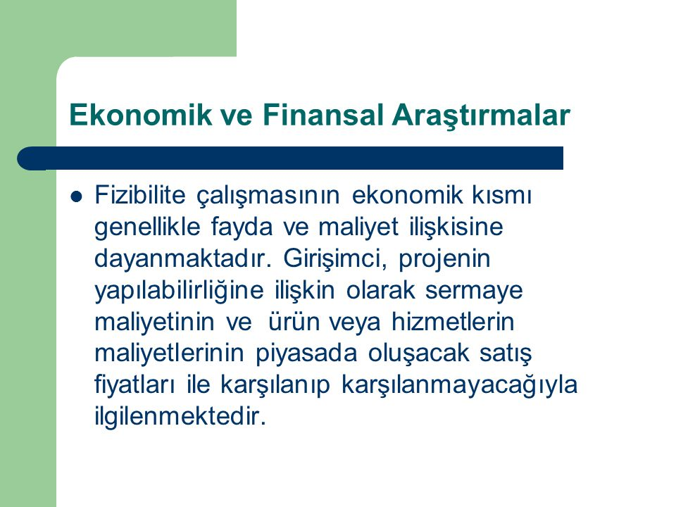 Ekonomik ve Finansal Araştırmalar