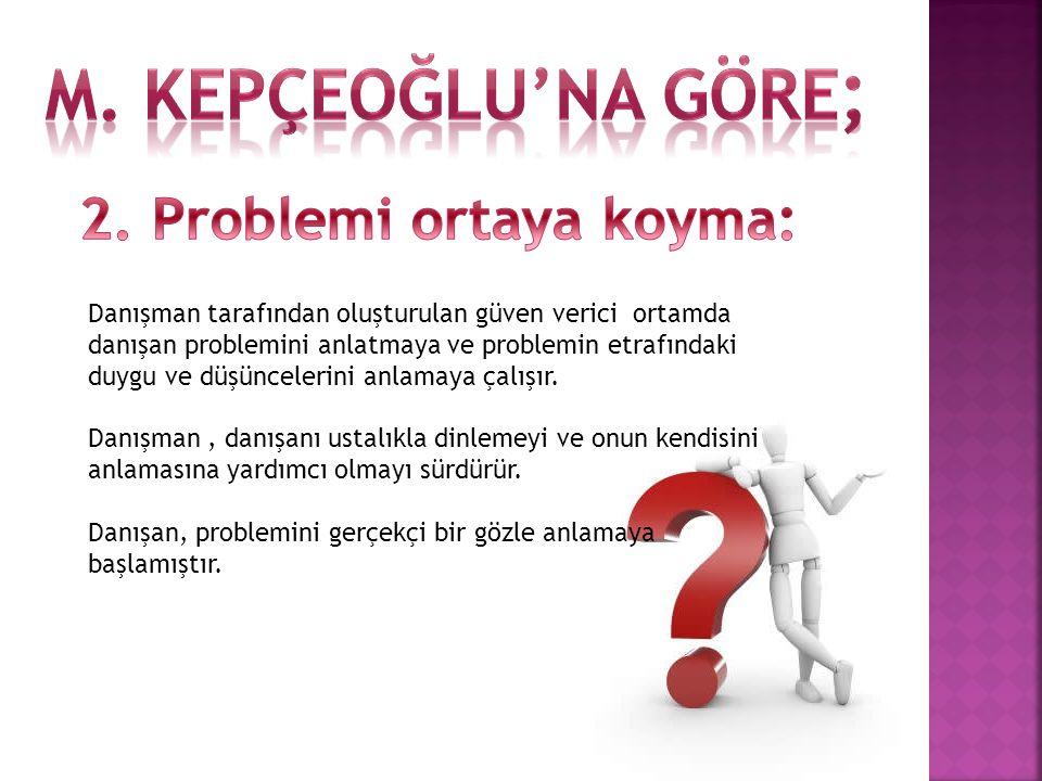 2. Problemi ortaya koyma: