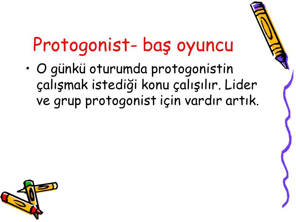 Protogonist- baş oyuncu