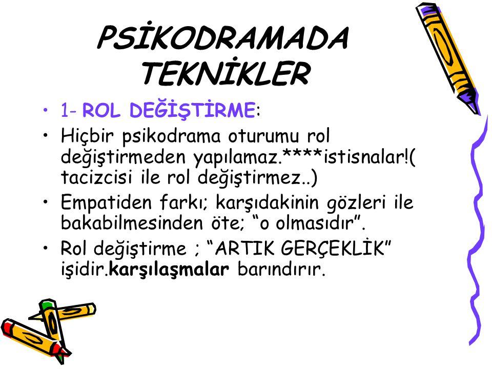 PSİKODRAMADA TEKNİKLER