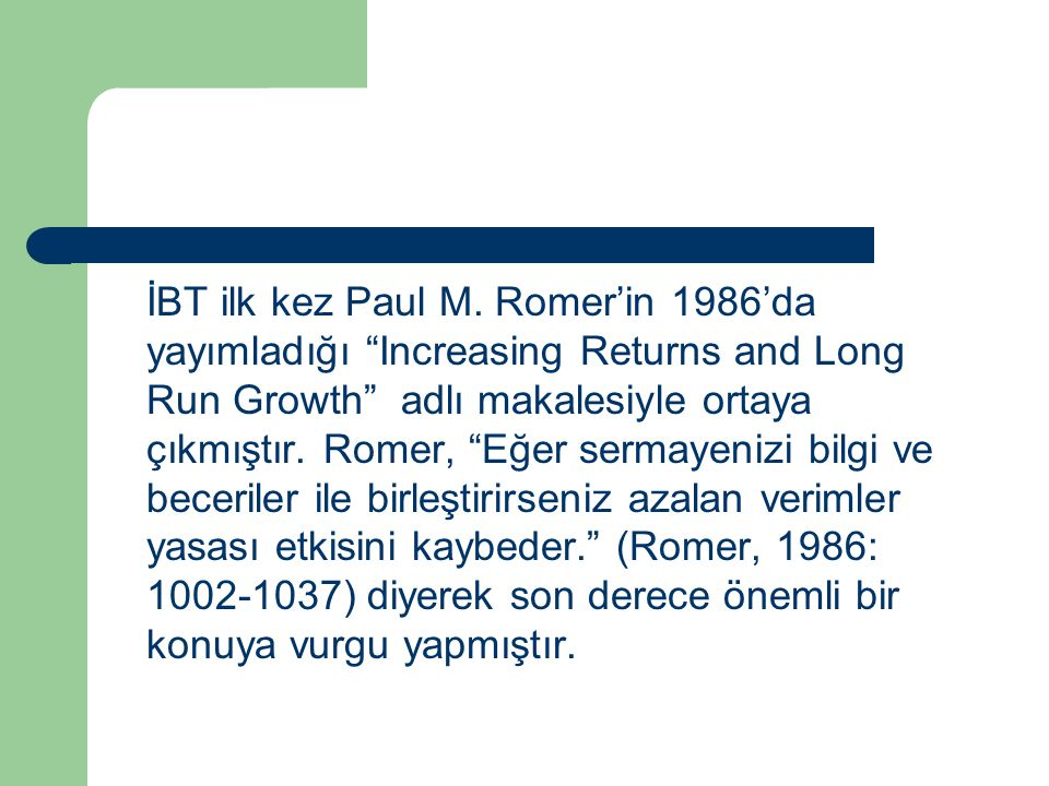 İBT ilk kez Paul M.