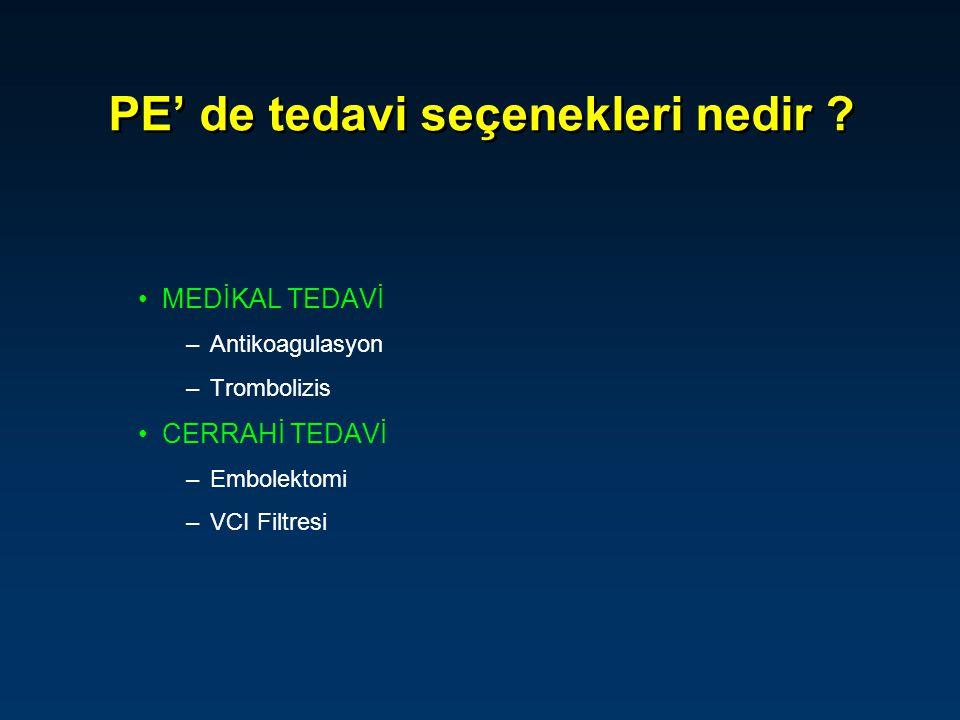 PE' de tedavi seçenekleri nedir