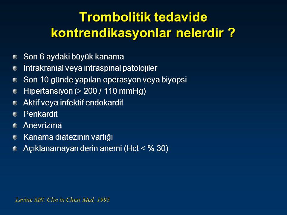Trombolitik tedavide kontrendikasyonlar nelerdir
