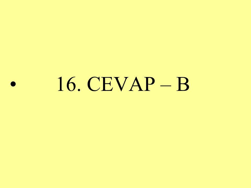 16. CEVAP – B