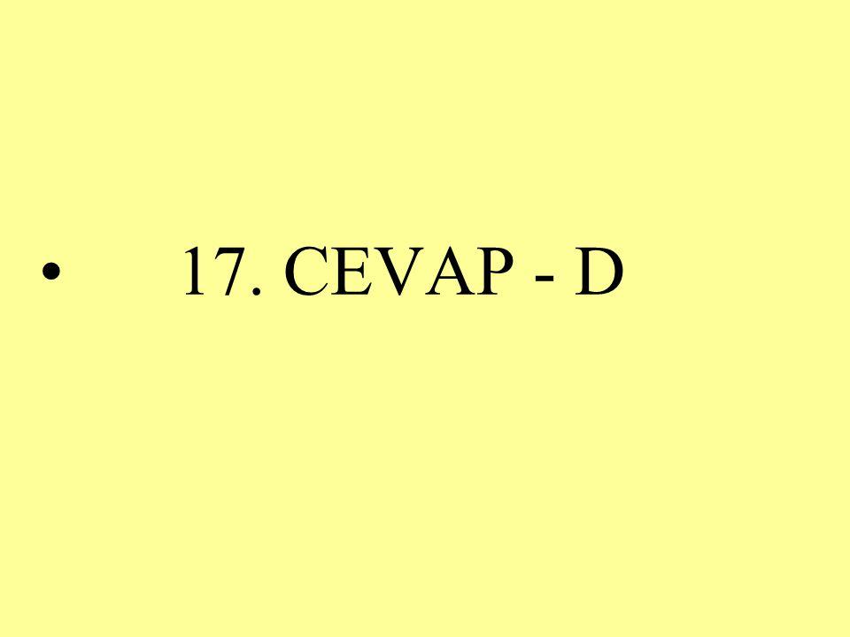 17. CEVAP - D