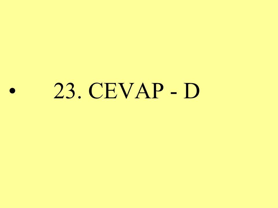 23. CEVAP - D