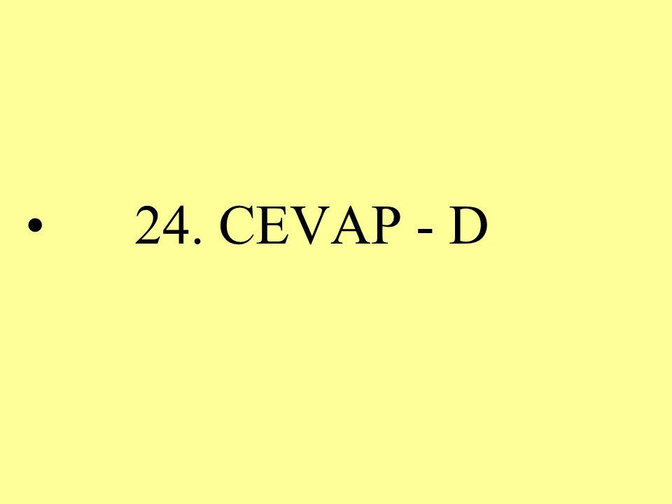24. CEVAP - D