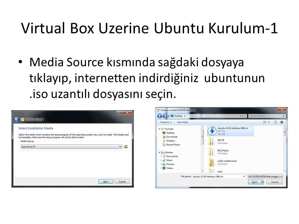 Virtual Box Uzerine Ubuntu Kurulum-1