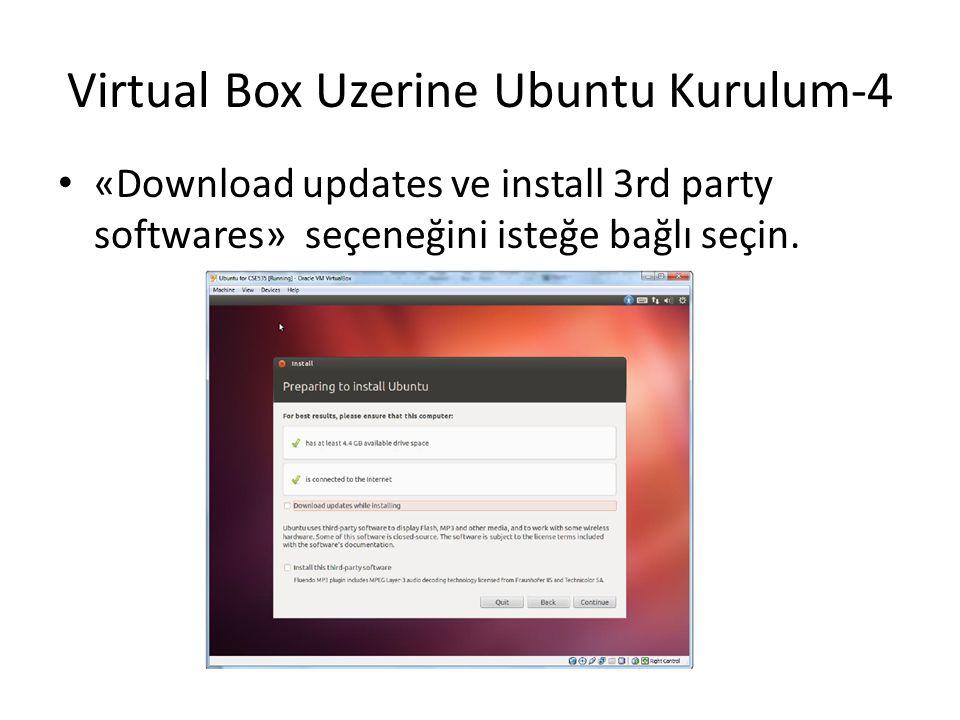 Virtual Box Uzerine Ubuntu Kurulum-4