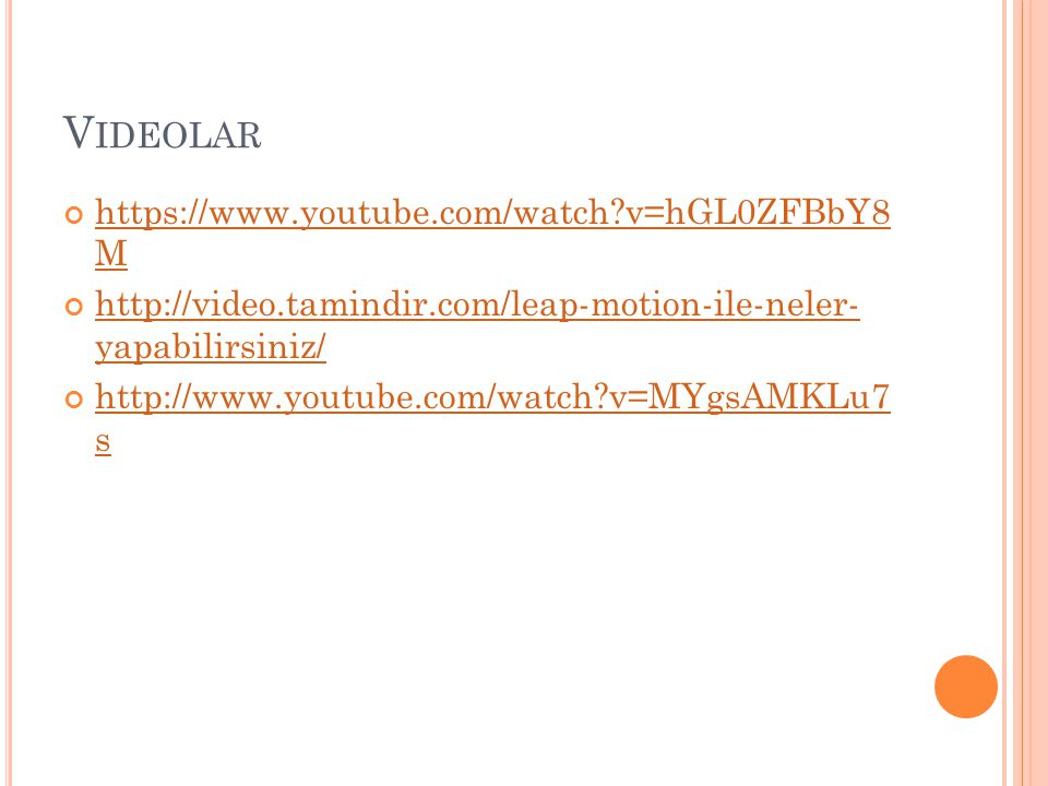 Videolar https://www.youtube.com/watch v=hGL0ZFBbY8 M