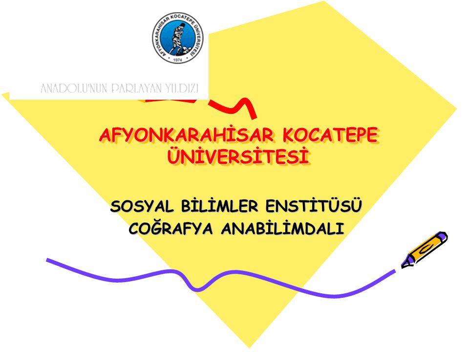 AFYONKARAHİSAR KOCATEPE ÜNİVERSİTESİ