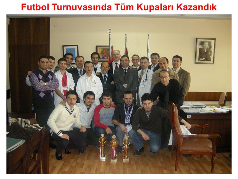 Futbol Turnuvasında Tüm Kupaları Kazandık