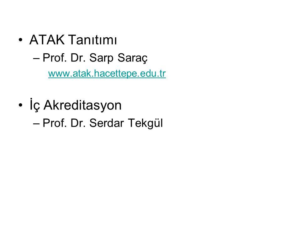 ATAK Tanıtımı İç Akreditasyon Prof. Dr. Sarp Saraç