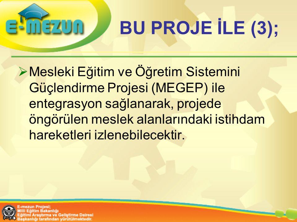 BU PROJE İLE (3);