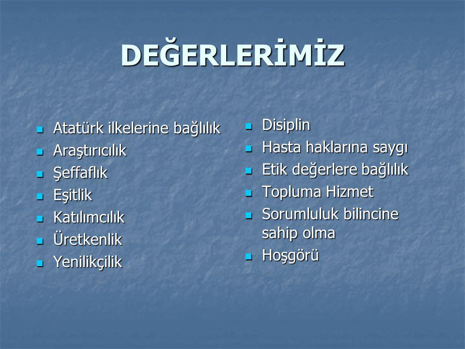 DEĞERLERİMİZ Disiplin Atatürk ilkelerine bağlılık