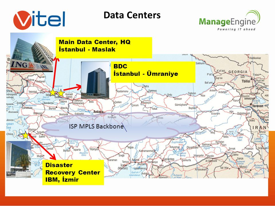 Data Centers ISP MPLS Backbone Main Data Center, HQ İstanbul - Maslak