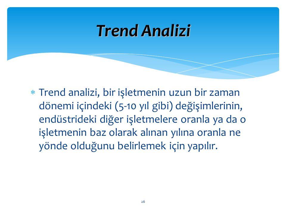 Trend Analizi