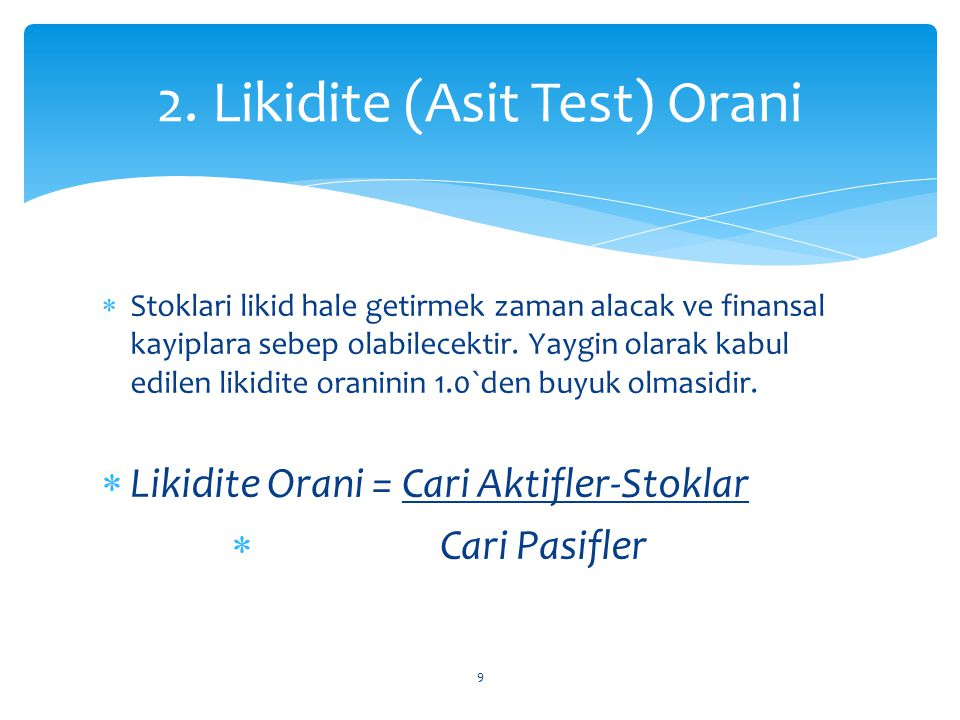 2. Likidite (Asit Test) Orani