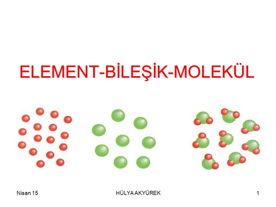 ELEMENT-BİLEŞİK-MOLEKÜL