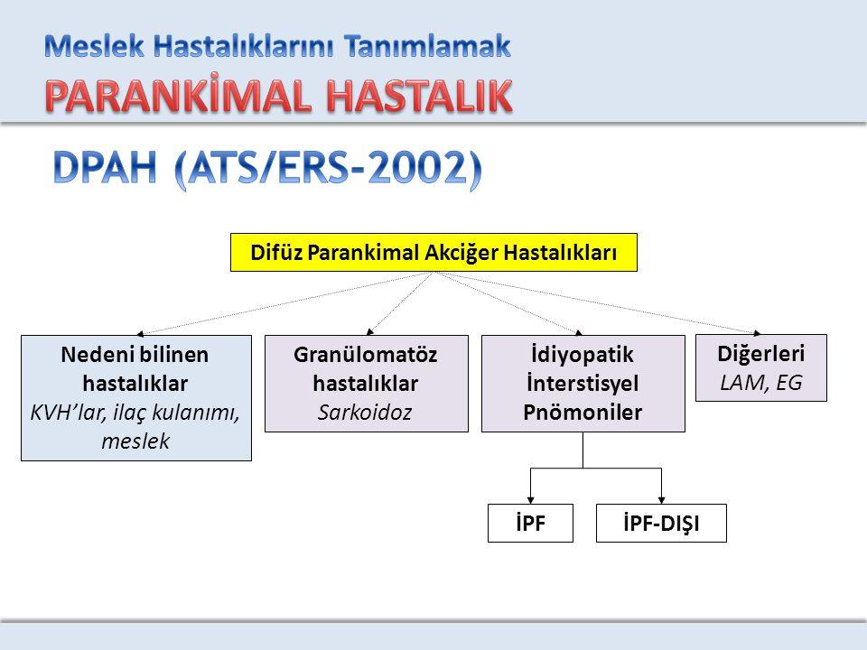 DPAH (ATS/ERS-2002) Difüz Parankimal Akciğer Hastalıkları