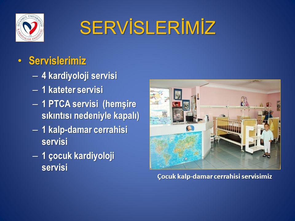 SERVİSLERİMİZ Servislerimiz 4 kardiyoloji servisi 1 kateter servisi