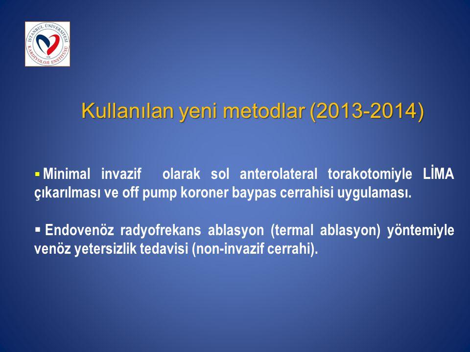 Kullanılan yeni metodlar (2013-2014)