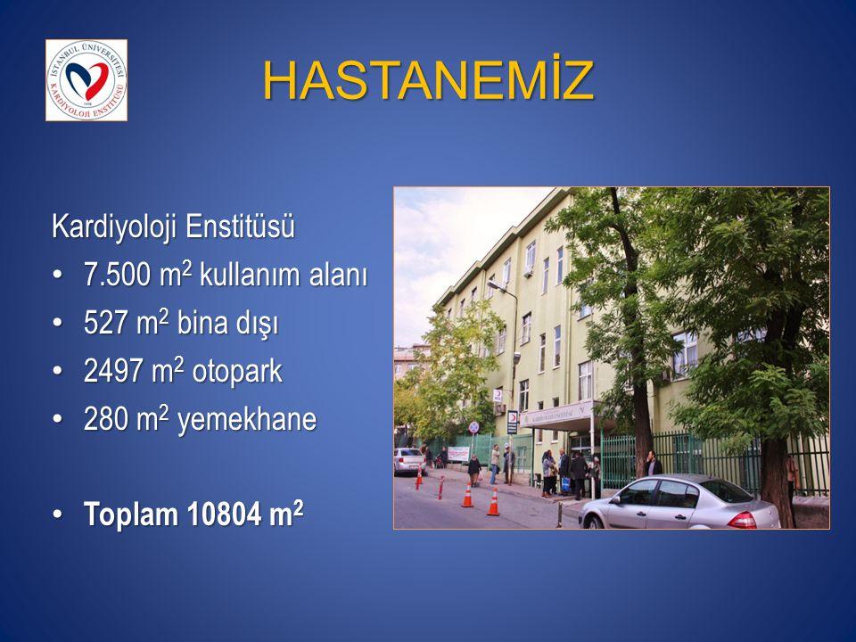 HASTANEMİZ Kardiyoloji Enstitüsü 7.500 m2 kullanım alanı