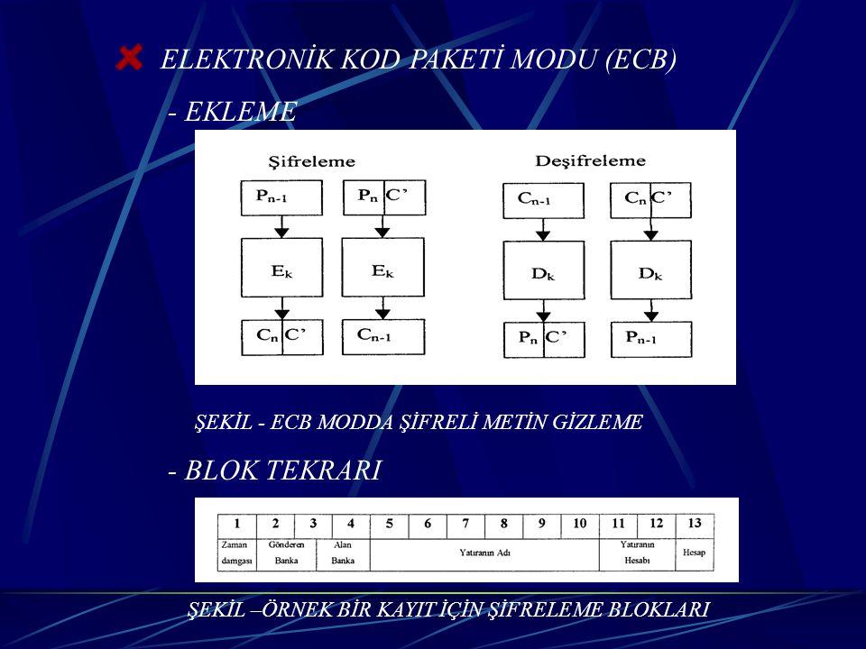 ELEKTRONİK KOD PAKETİ MODU (ECB) - EKLEME