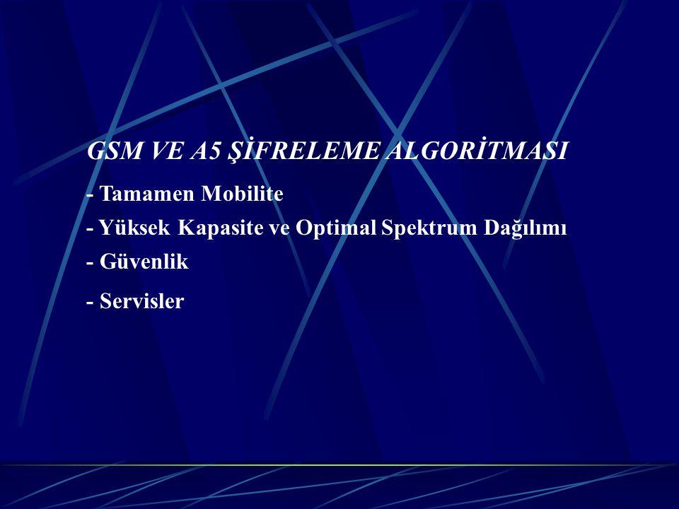 GSM VE A5 ŞİFRELEME ALGORİTMASI