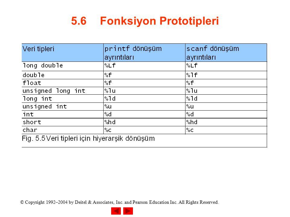 5.6 Fonksiyon Prototipleri