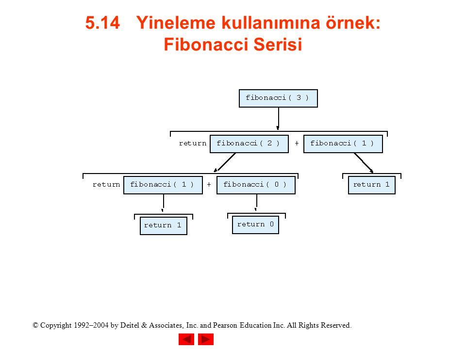 5.14 Yineleme kullanımına örnek: Fibonacci Serisi