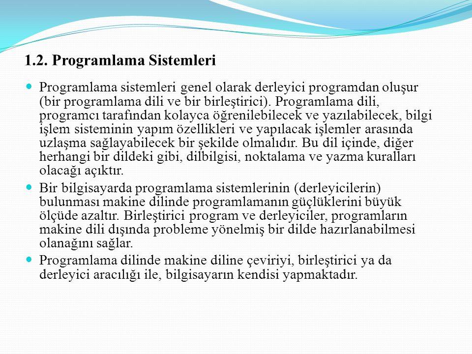 1.2. Programlama Sistemleri