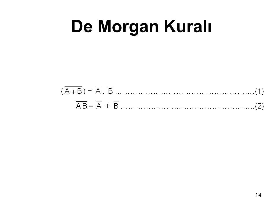 De Morgan Kuralı