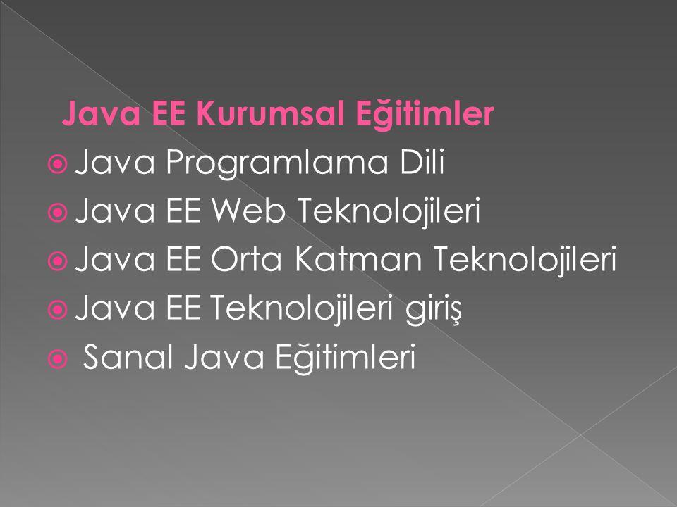 Java EE Web Teknolojileri Java EE Orta Katman Teknolojileri