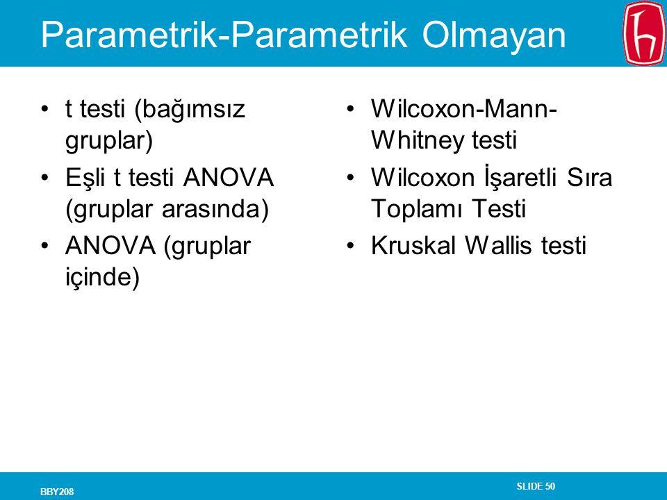 Parametrik-Parametrik Olmayan