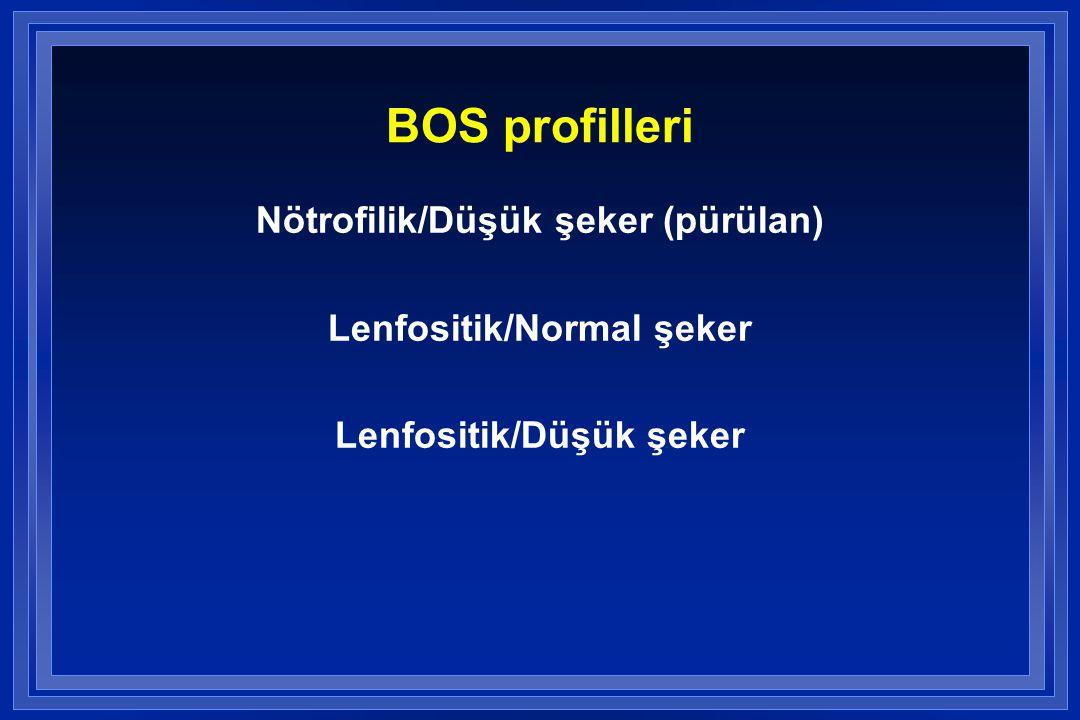 BOS profilleri Nötrofilik/Düşük şeker (pürülan)