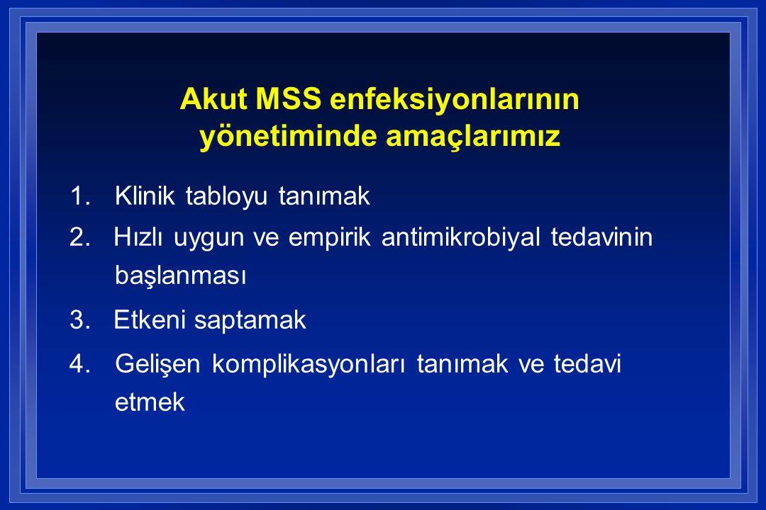Akut MSS enfeksiyonlarının yönetiminde amaçlarımız