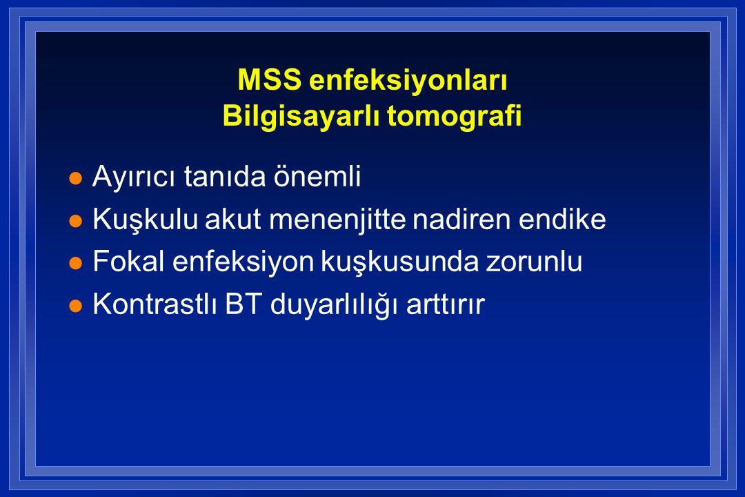 MSS enfeksiyonları Bilgisayarlı tomografi