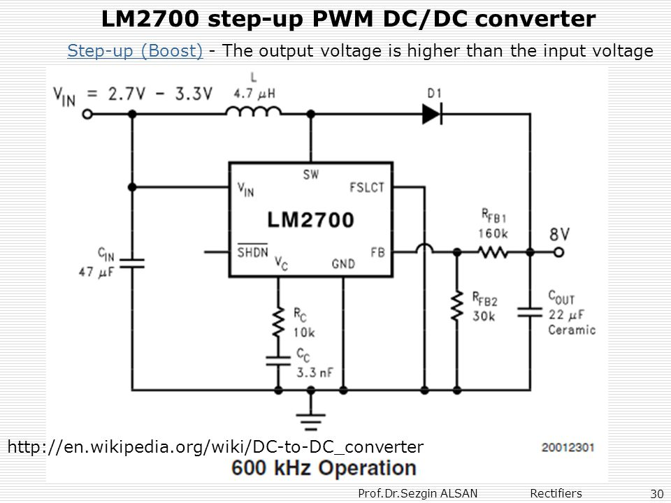 LM2700 step-up PWM DC/DC converter