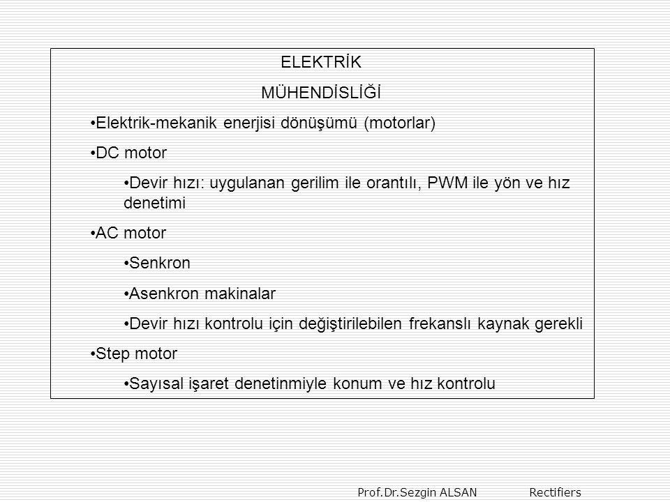 ELEKTRİK MÜHENDİSLİĞİ. Elektrik-mekanik enerjisi dönüşümü (motorlar) DC motor.