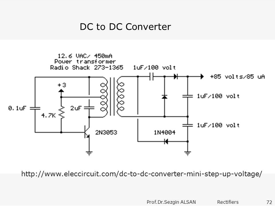 DC to DC Converter http://www.eleccircuit.com/dc-to-dc-converter-mini-step-up-voltage/ 72