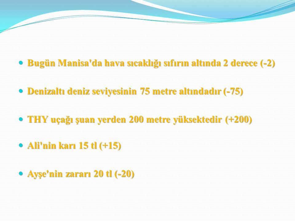 Bugün Manisa da hava sıcaklığı sıfırın altında 2 derece (-2)