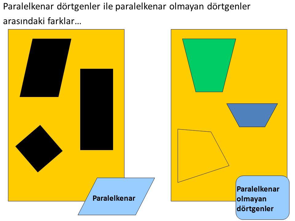 Paralelkenar dörtgenler ile paralelkenar olmayan dörtgenler arasındaki farklar…