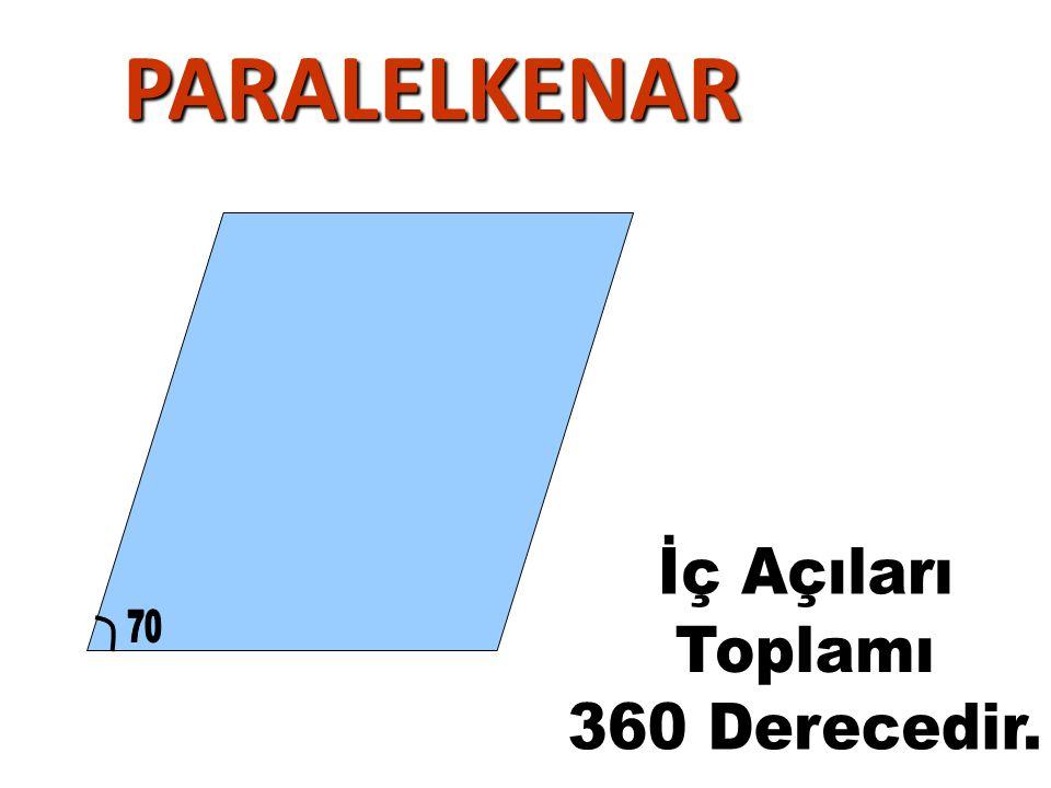 PARALELKENAR 70 İç Açıları Toplamı 360 Derecedir.