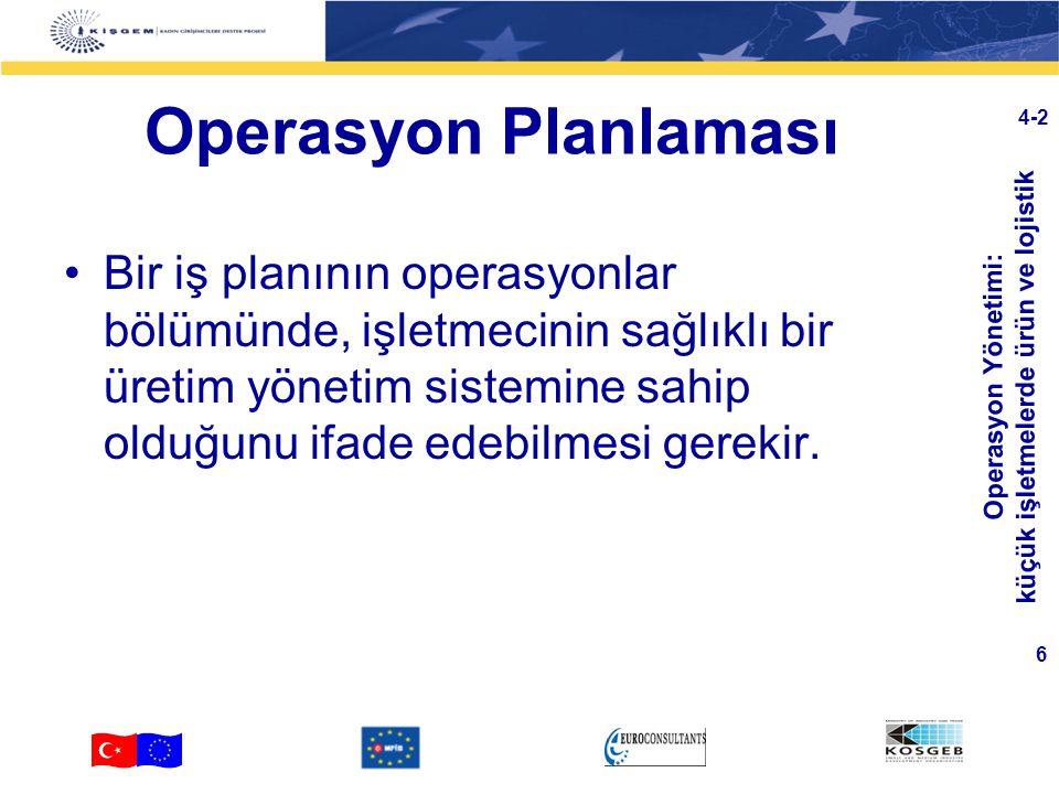 Operasyon Planlaması