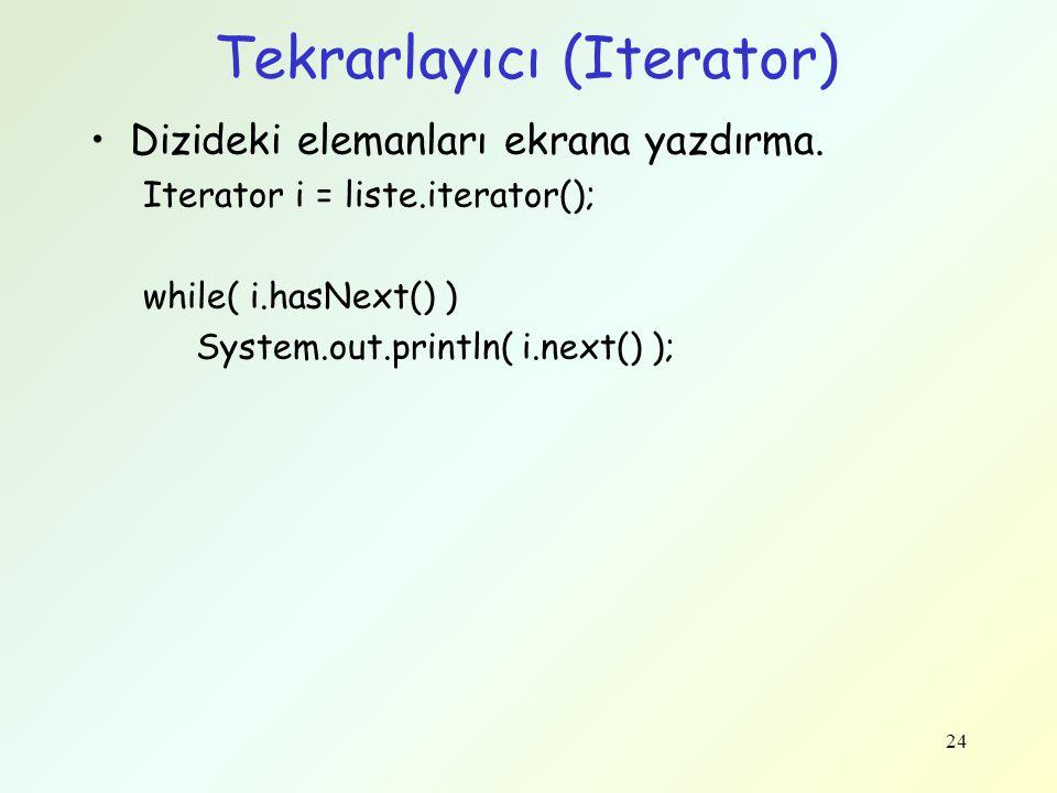 Tekrarlayıcı (Iterator)