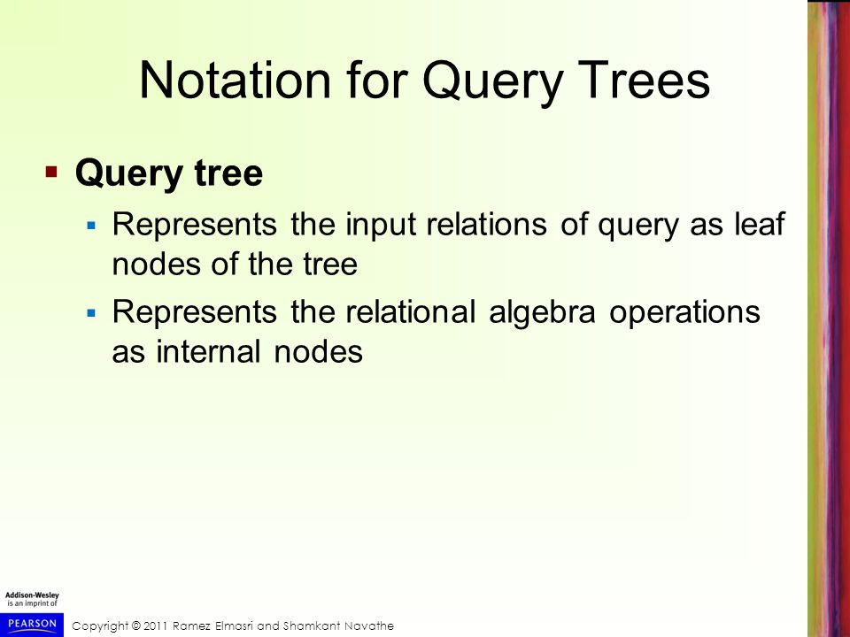 Notation for Query Trees