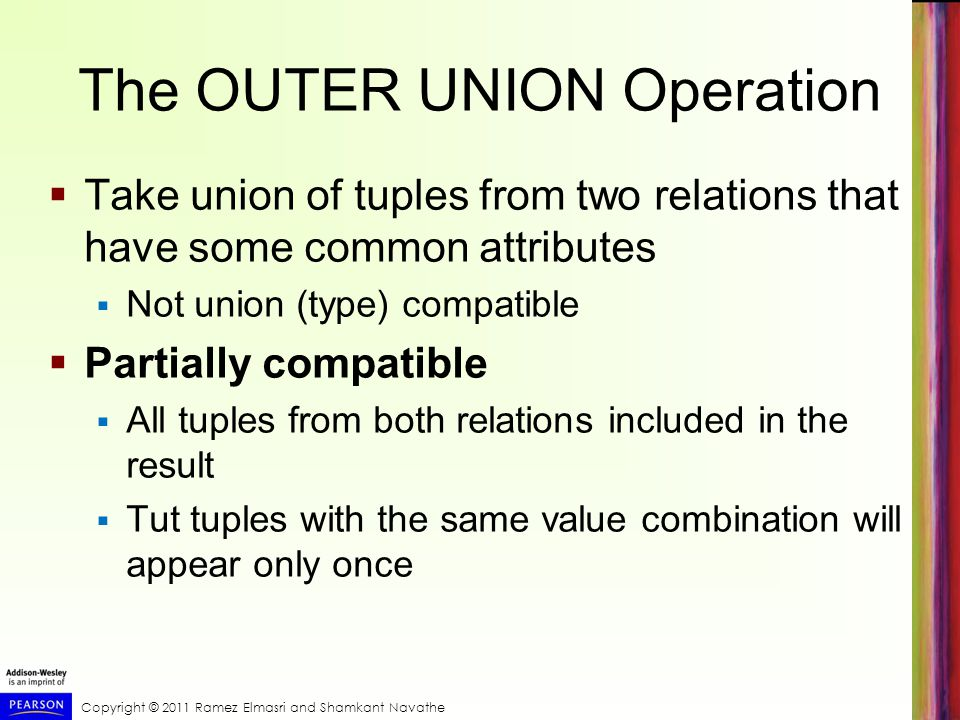 The OUTER UNION Operation