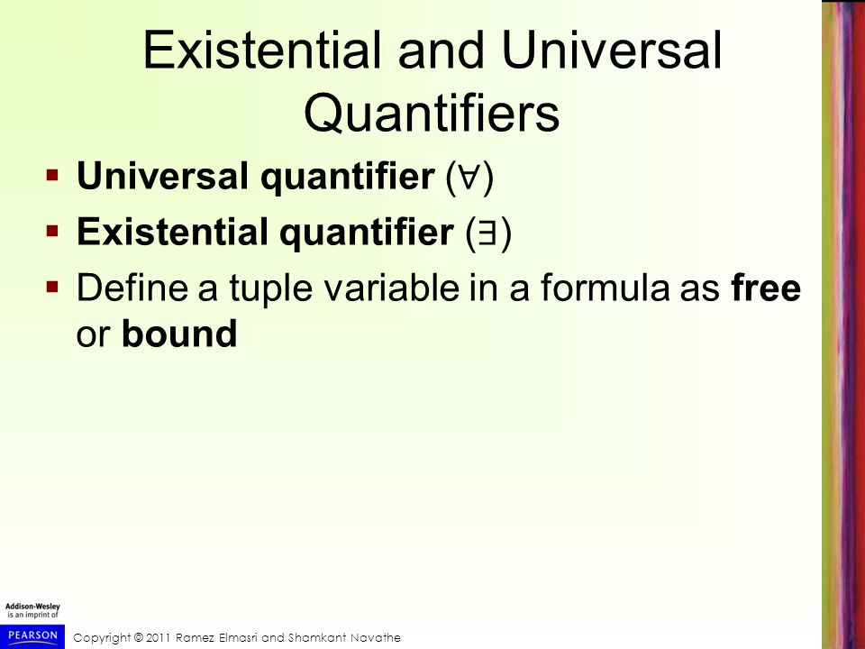 Existential and Universal Quantifiers