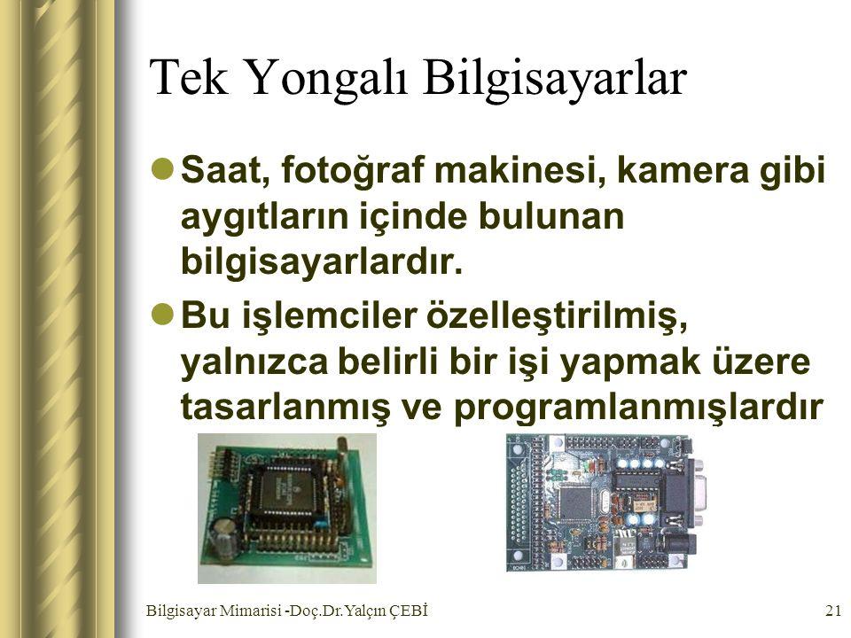 Tek Yongalı Bilgisayarlar